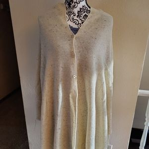 lularoe Mimi Sweater wrap with buttons cream with